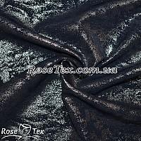 Креп костюмка (Флорида) серебряное напыление темно-синий