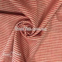 Рубашка принтованная полоска красный