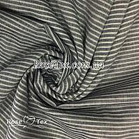 Рубашка принтованная полоска темно-серый
