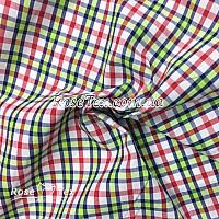 Рубашка принтованная клетка зелено-красная 6мм
