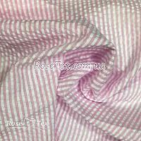Рубашка крэш принтованная полоска нежно-розовая  3мм