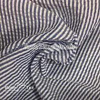 Рубашка крэш принтованная полоска синяя 3мм