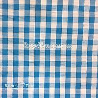 Рубашка крэш принтованная клетка голубая 10мм