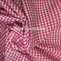 Рубашка крэш принтованная клетка малина 4мм