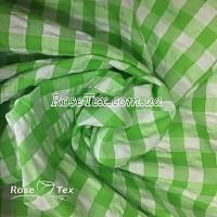 Рубашка крэш принтованная клетка салатовая 10мм