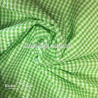 Рубашка крэш принтованная клетка салатовая 4мм