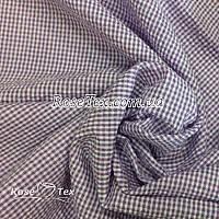 Рубашка крэш принтованная клетка сиреневая 2мм