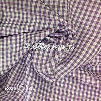 Рубашка крэш принтованная клетка сиреневая 4мм
