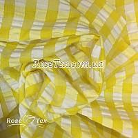 Рубашка крэш принтованная клетка желтая 10мм