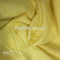 Рубашка крэш принтованная клетка желтая 2мм