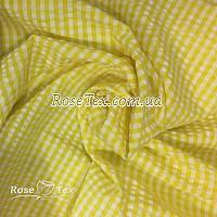 Рубашка крэш принтованная клетка желтая 4мм