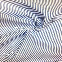 Рубашка принтованная полоска голубая  3мм