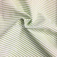Рубашка принтованная полоска салатовая 3мм