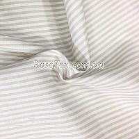 Рубашка принтованная полоска светло-бежевая 3мм