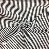 Рубашка принтованная полоска темно-серая  3мм