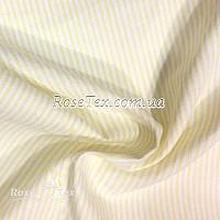 Рубашка принтованная полоска желтая 1мм