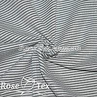 Рубашка крэш люрекс принтованная полоска 1,5мм черный