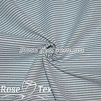 Рубашка крэш люрекс принтованная полоска 1,5мм темно-синий
