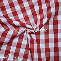 Рубашка принтованная клетка красная 17мм