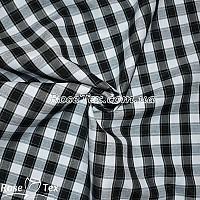 Рубашка принтованная клетка черная 12мм