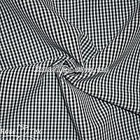 Рубашка принтованная клетка черная 2,5мм