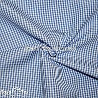 Рубашка принтованная клетка голубая 2,5мм