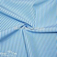 Рубашка принтованная полоска голубая 2мм