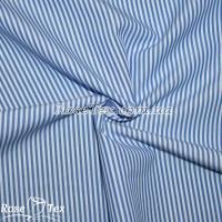 Рубашка принтованная полоска светлый электрик 2мм