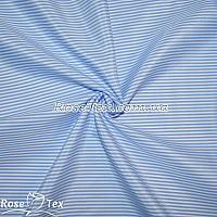 Рубашка принтованная полоска небесно-голубая 2мм