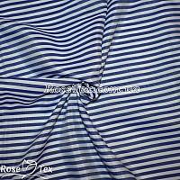 Рубашка принтованная полоска синий 4мм