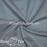 Рубашка принтованная полоска 1,5мм темно-синий