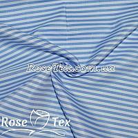 Рубашка принтованная полоска 3мм голубой