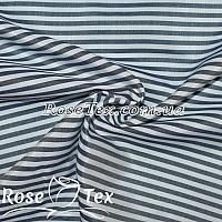 Рубашка принтованная полоска 3мм темно-синий