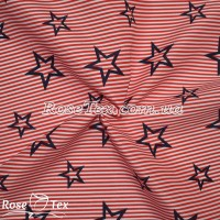 Рубашка принтованная звезды на красной полоске