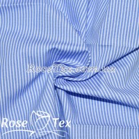 Рубашка принтованная полоска 1,5мм голубой
