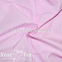 Рубашка принтованная полоска 1,5мм розовый