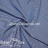 Рубашка принтованная полоска 1,5мм электрик