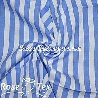 Рубашка принтованная полоска 7мм голубой