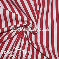 Рубашка принтованная полоска 7мм красный
