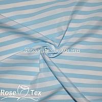 Рубашка принтованная полоска голубой 10мм