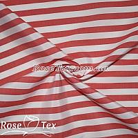 Рубашка принтованная полоска красный 10мм