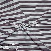 Рубашка принтованная полоска марсала 10мм