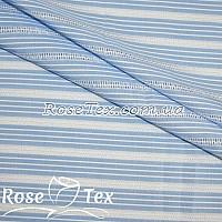 Рубашка принтованная кружево полоска 3,5мм голубой