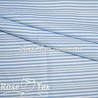 Рубашка принтованная кружево полоска 3мм голубой