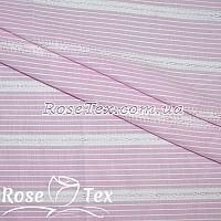 Рубашка принтованная кружево полоска 3,5мм розовый