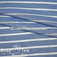 Рубашка принтованная кружево полоска 1,5мм электрик