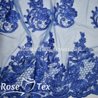 Сетка вышивка розы электрик