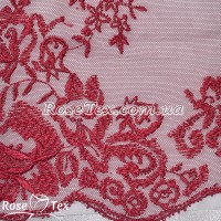 Сетка вышивка цветы розовый