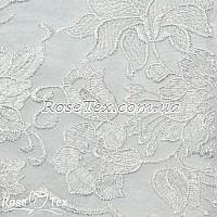 Сетка вышивка лилии белый