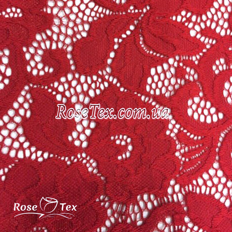 e87a3a57b9bf Купить ткань Гипюр кружево розы Красный  оптом и в розницу по ...